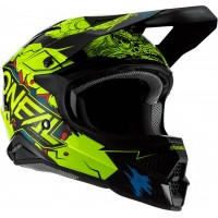 Casco de cross O´neal 3SRS Helmet Villain 2.0 Neon Yellow adulto