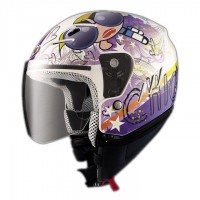 CASCO JET BLANCO/ROSA COMIC SHIRO SH-20