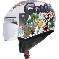 CASCO JET  BLANCO COMIC SHIRO-20