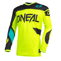 CAMISETA CROSS ONEAL ELEMENT AMARILLA Y AZUL