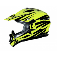 CASCO CROSS SHIRO BRAVO MX734 AMARILLO FLUOR