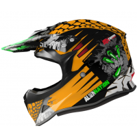 CASCO MOTOCROSS NIÑO SHIRO MX-308 NARANJA
