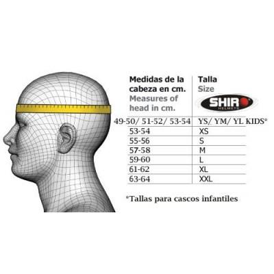 CASCO JET CON GAFAS DE SOL SH-451 BLANCO SHIRO