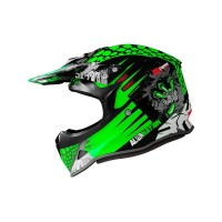 CASCO MOTOCROSS NIÑO SHIRO MX-308 VERDE