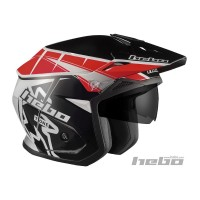 Casco YET  trial Zone 5 T-ONE NEGRA , GRIS Y ROJA